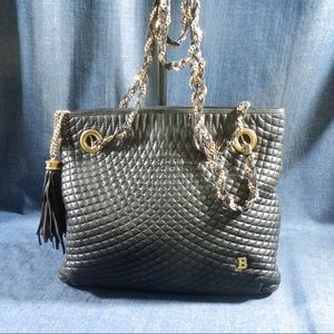 auth Bally vintage chain bag
